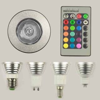 E27 GU10 E14 MR16 RGB LED Light Bulb Remote Controller 16 Colors 5