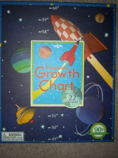 NEW eeBoo Keepsake SPACE Growth Chart 22 Stickers 90% recycled Board