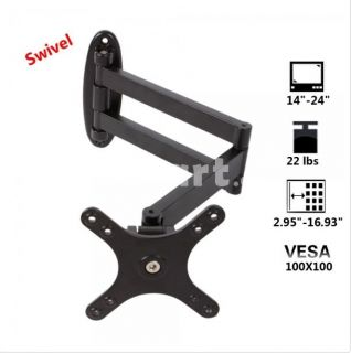 Tilt Swivel LCD LED Monitor TV Mount for Samsung 100mmx100mm 15 19