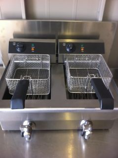 Commercial Fryers Electric Twin Basket Large 19 Litre Tank Fish and