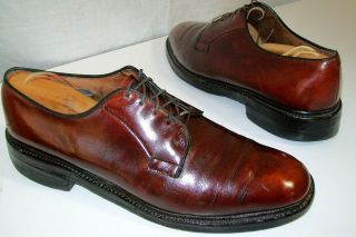 ALLEN EDMONDS Mens CORDOVAN Leather Mens DRESS Shoe BLUCHER OXFORD 9