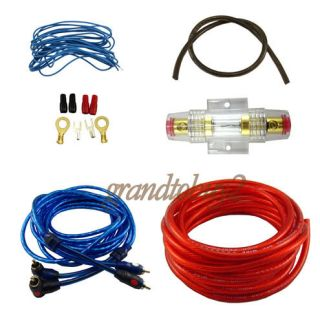 Car Audio Subwoofer Sub Amplifier AMP Wiring Kit Sound Cable Wire NEW