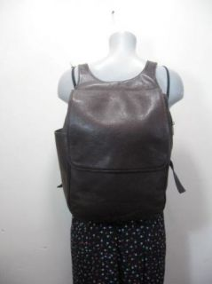 Vintage Ellington Brown Leather Backpack Sling Bag Tote