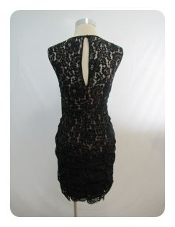 New Eliza J Black Brown Lace Cinched Sleeveless Scoop Neck Sheath