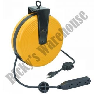 Metal Electrical Retractable Wire Tap Cord Reel Extension Plug Power