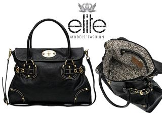 Elite Models Fashion Paris Collection Elisa Bag Black Tote Shoulder