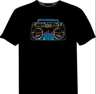 Show Band Music Activated Luminous LED Equalizer El T Shirt