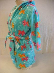 st eves girls blue robe towel wrap size large 10