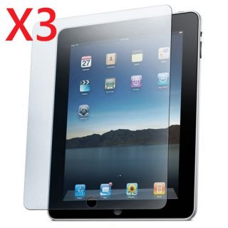 3X Clear LCD Screen Protector Film for iPad 1 1st Gen