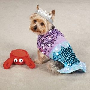 Mermaid Aeriel Princess Pet Dog Halloween Costume XS XL