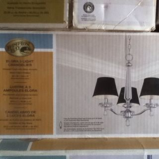 Hampton Bay Elora 3 Light Chandelier