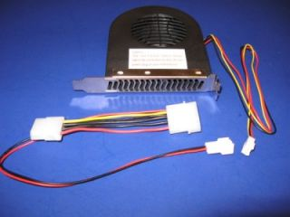 USING 0NE PCI SLOT FAN COOLER FOR PC W/ 3 PIN TO 4 PIN ADAPTER