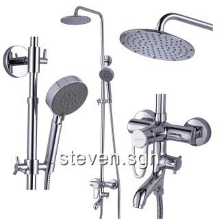 Chrome Wall Mounted Rain Shower Faucet Set JD 1147