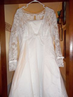 Ferrera Couture Claire Wedding Dress Gown Size UK 22 US 20