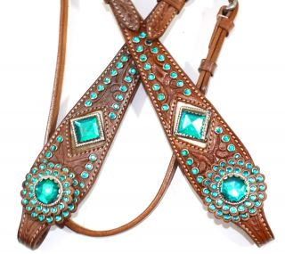Diamond Bling Western Tack Set. Headstall & Breast Collar Horse Tack