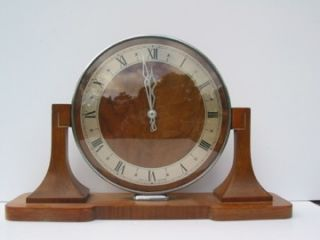 smith wooden art deco style mantle clock 940 1081