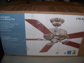 Hampton Bay 52 In. Farmington Ceiling Fan BRAND NEW brushed nickel