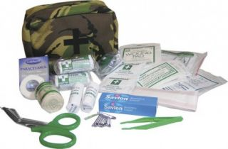 Large Military 1st First Aid Kit All Content Bag Case British DPM Camo