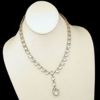 Fishel Nessler FN Co Art Deco Crystal Pendant Necklace Beautiful