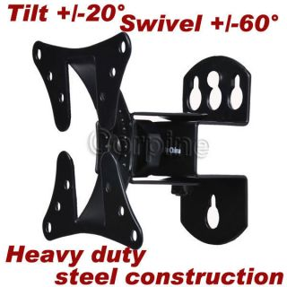 Tilt Swivel LCD LED Flat Screen TV Monitor Wall Mount 15 17 19 22 24
