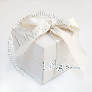 100 5cm White Favour Gift Box Wedding Party Baby Shower