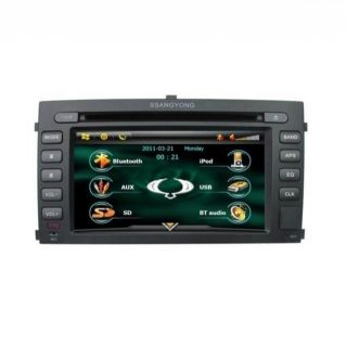 In Dash 2 DIN Car DVD Player GPS Radio for Ssangyong Rexton II E1290