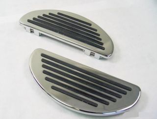 Half Moon Chrome Billet Rail Floorboards Harley FLTR Road Glide FLTRX