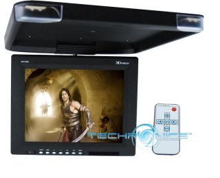 15 Overhead Flip Down TFT LCD Screen Ceiling Mount Car Monitor w