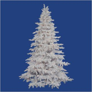 Vickerman Flocked White Spruce 54 Artificial Christmas Tree w Clear