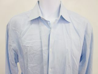 Filo A Mano Mens Light Blue Button Up Dress Shirt Sz XL