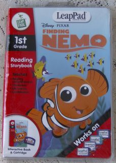 Leap Frog LeapPad Disney Pixar FINDING NEMO Game Book Cartridge