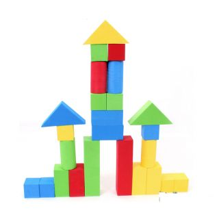 New 28Pc Software Tasteless Color Foam Building Blocks Puzzle