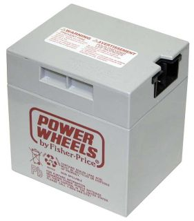 Battery 12 Volt Gray Genuine Power Wheels Fisher Price Grey 12V
