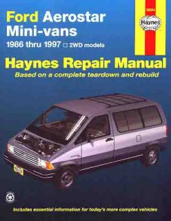 Ford Aerostar Minivan Repair Shop Service Manual 1994 1995 1996 1997