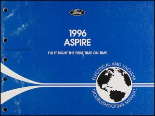 1996 Ford Aspire Electrical and Vacuum Troubleshooting Manual 96