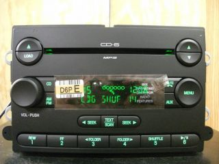 Ford Five Hundred factory 6 disc CD  player radio 07 08 09 7G1T