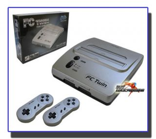 New FC Twin Nintendo NES/SNES Super Retro Video Game System   Silver