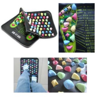 Reflexology Foot Massage Walk Stone Leg Massager Mat Medium Size New