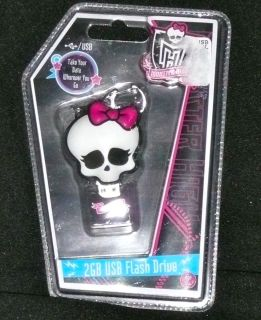 Monster High 2GB USB Memory Flash Drive Keychain Compatible Mac PC New