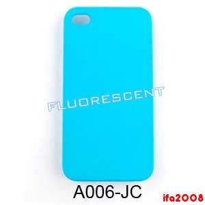 For iPhone 4G 4S Neon Fluorescent Light Blue Case Cover Skin Faceplate