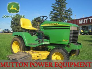 Used John Deere 345 Garden Tractor Riding Lawn Mower