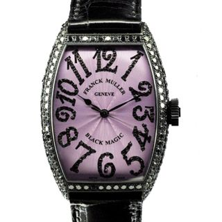 New Franck Muller Womens Black Magic 5850 White Gold Black Diamonds