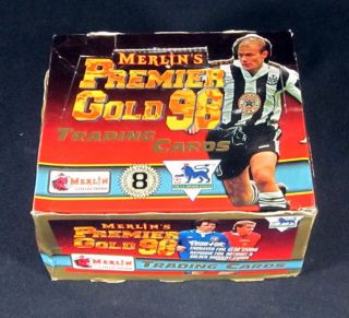 Merlins Premier Gold 98 Soccer/Football Trading Card Box 36 Packs