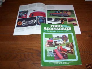 1980 Ford Pickup Truck Bronco Econoline Van etc Accessories Brochure