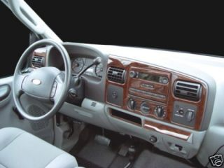 FORD F250 F 250 F350 F 350 XL XLT INTERIOR WOOD DASH TRIM KIT SET 2005