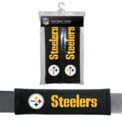 Pittsburgh Steelers NFL Car Accessory   Velour Seat Belt Pads