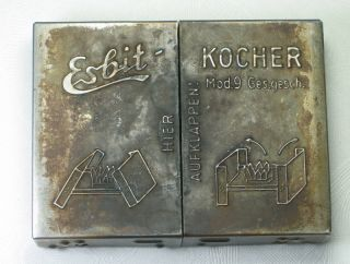 WWII German Military Esbit Kocher Folding Field Cook Stove & Heatabs