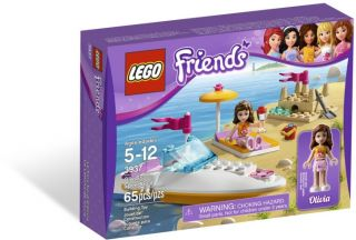 2012 Lego Friends 3937 Olivias Speedboat NIB New Lego for Girls Great