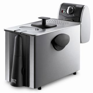 DeLonghi D14522DZ 3.0 Lb Stainless Steel Dual Zone Deep Fryer NEW