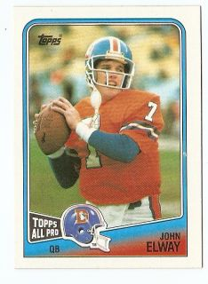 1988 John Elway Topps All Pro Football Trading Card